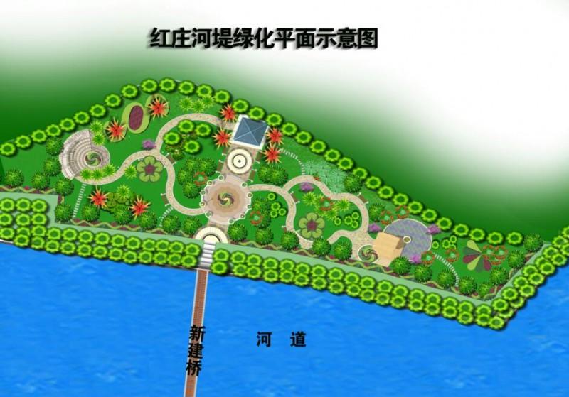 红庄河提绿化平面 (1)