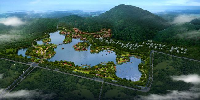 景区规划设计鸟瞰图
