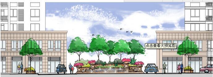 景观手绘剖面图图片