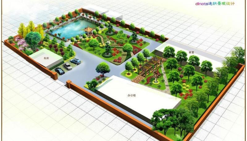 私人会所庭院绿化
