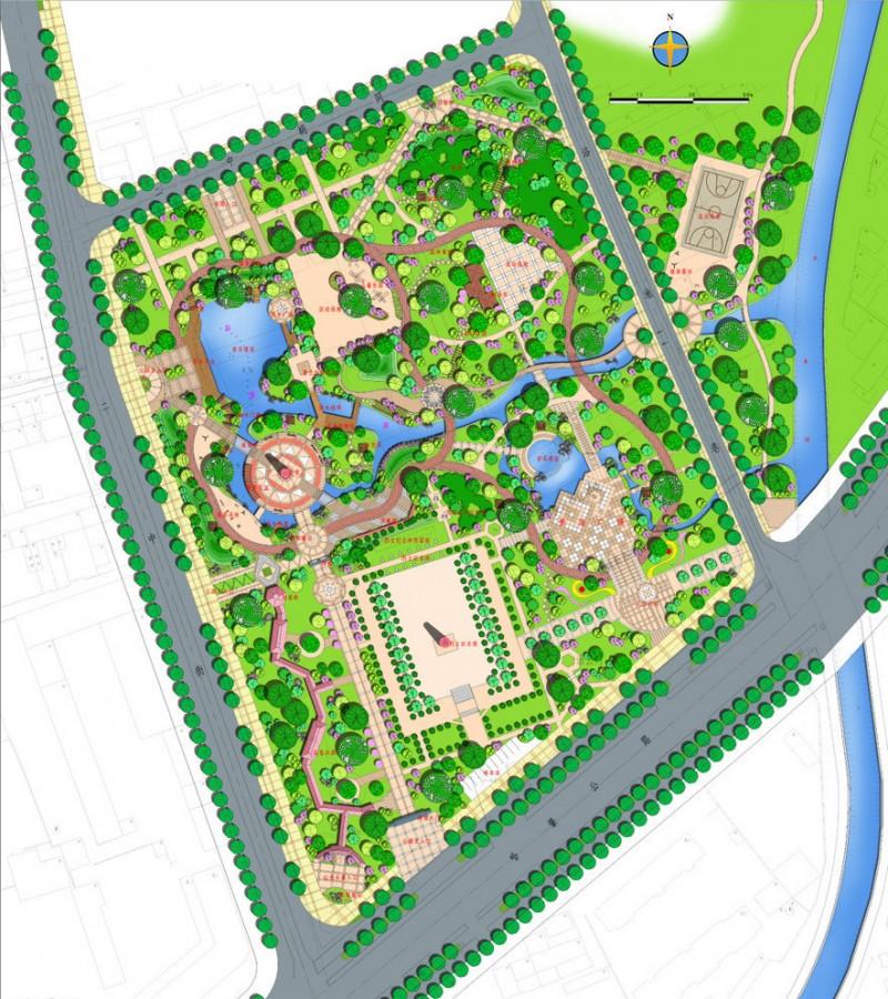 公园总平图