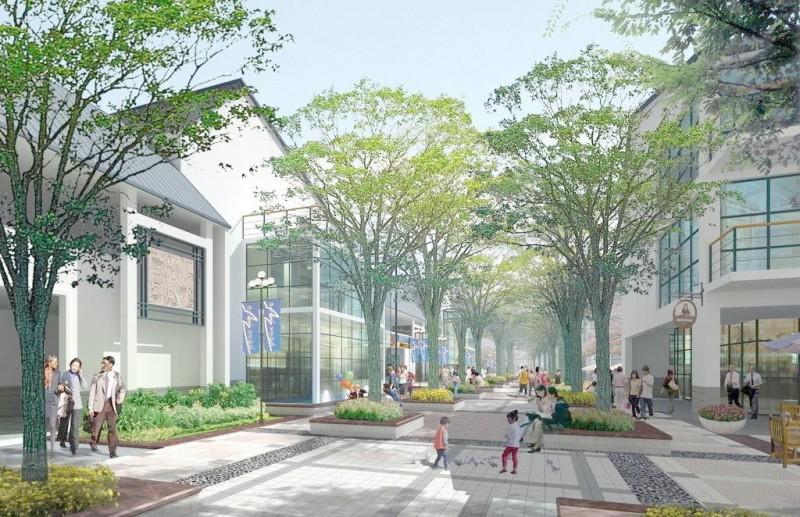 商业街景观效果图