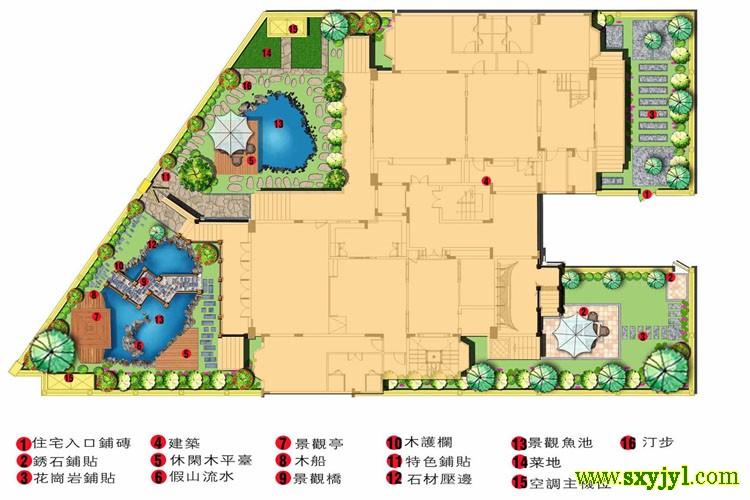 西安私家院子景观设计 (5)