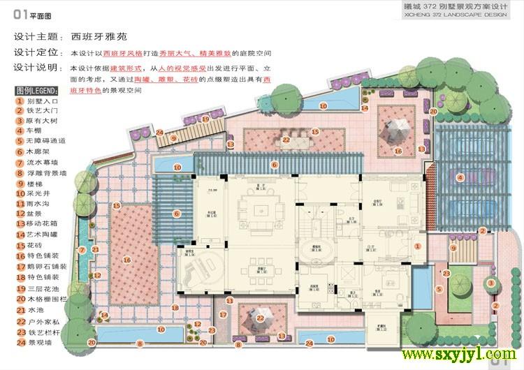 别墅花园景观设计 (8)