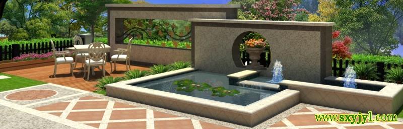 私家院子花园景观设计 (9)