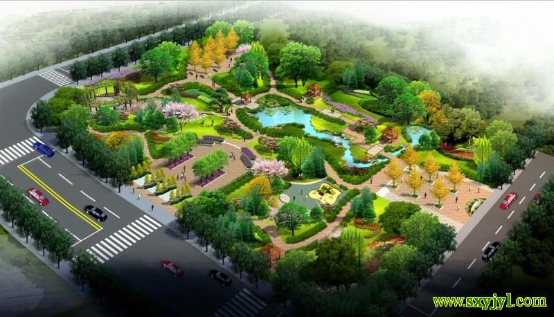 商洛市一县街区公园规划图